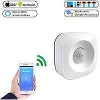 JEOHMMA Detector de Sensor de Movimiento PIR WiFi para Alarma de Seguridad para el hogar Compatible