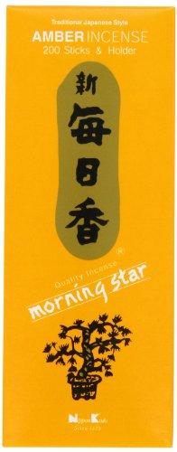 Nippon Kodo Morning Star Bernstein Räucherstäbchen 200 Sticks & Halter 6 x 1.4 x 2.3 inches Nippon Art