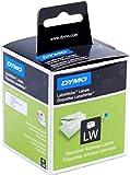 Dymo S0722370 Etichette per indirizzo autoadesive, 28 mm x 89 mm, Bianco,  Confezione da 2 rotoli di 130