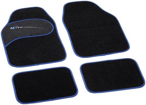 Unitec 74331 Active - Alfombras para coche (4 piezas), color negro y...