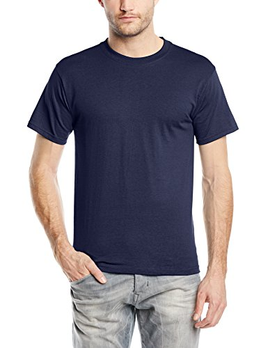 fruit-of-the-loom-heavy-cotton-tee-shirt-camiseta-manga-corta-para-hombre-blau-marineblau-l-l
