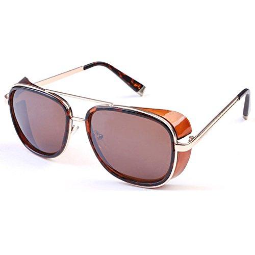 Deylay Steampunk Sonnenbrille Manner Frauen Gespiegelte Brillen Vintage Sonnenbrillen Farbe 1