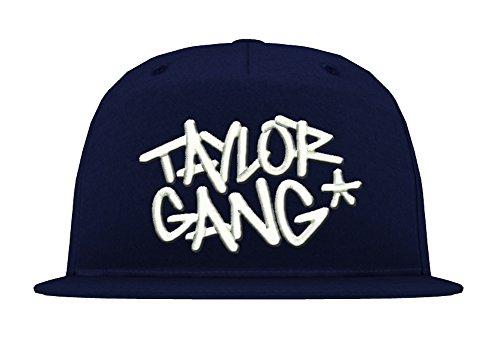 TRVPPY 5 Panel Snapback Trucker Mesh Cap Modell Taylor Gang Wiz Khalifa, Weiß-Navyblau