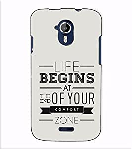 Fuson Designer Back Case Cover for Micromax Canvas Magnus A117 :: Micromax A117 Canvas Magnus (Life begins at the end)