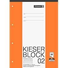 Fountain 1042942 Kieser Block ruling 2 (A4, 50 Sheets, Perforated, 80g/m², Class 2)