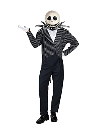Disguise Jack Skellington Adult Halloween Costume: Amazon.co.uk ...