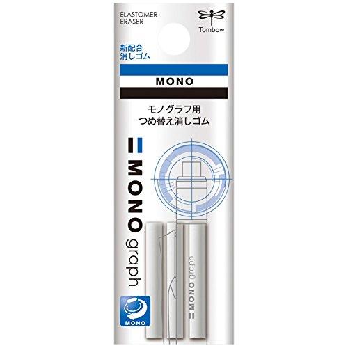Tombow ER-MG Ersatzradierer für Druckbleistift Mono graph, 3-er Pack