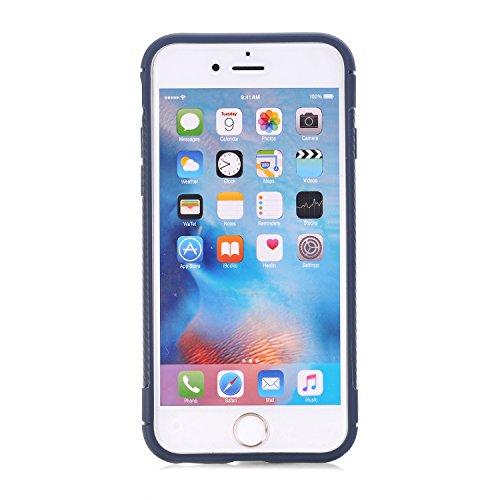 """Coque iPhone 6s, Coque iPhone 6, SsHhUu Ultra Slim Caoutchouc TPU Souple Anti-chocs Case Cover Housse de Protection Étui pour Apple iPhone 6 / 6s (4.7"""") Bleu Profond Bleu Profond"""