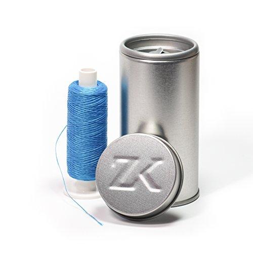 Polyester Zahnseide blau gewachst (Dose + 200 m)