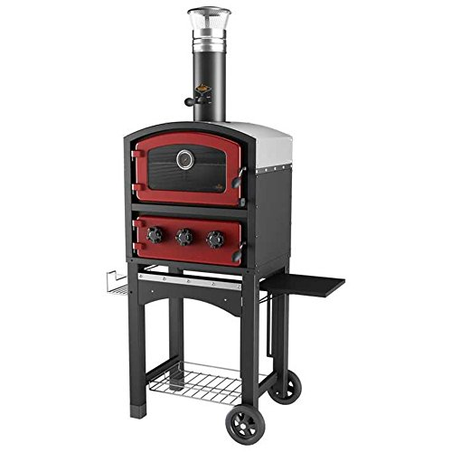 Fornetto Wood Fired Oven and Smoker - Outdoor Pizza Oven - BLACK
