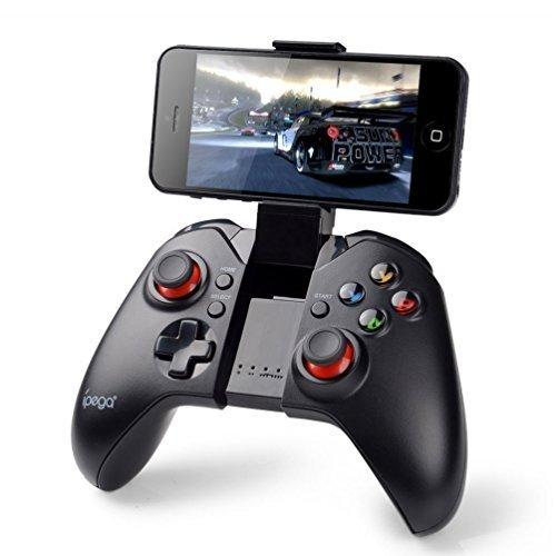 PowerLead Contrôleur de Jeu sans Fil 2.4 GHz, téléphone de Soutien, PC (Windows XP / 7/8 / 8.1/10) Android, Vista, poignée de Manette de Jeu Portable avec boîtier de télévision