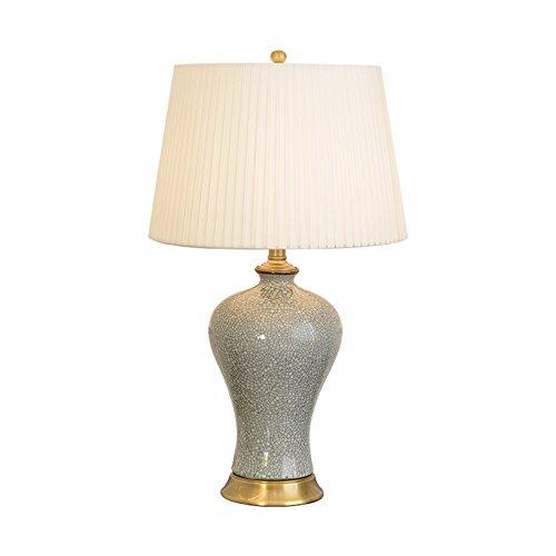 ANDEa Céramique Lampe de Table, Salon Chambre Bureau Lampe de Table Lampe de chevet Style Classique Bouton Interrupteur E27 * 1 Taille 3338 * 54-62CM Originalité (taille : 33 * 54CM)