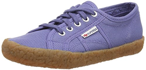 Superga 2750 Naked Cotj, Baskets Basses Unisexe Enfant Bleu - Blue (X46 Blue Velvet)