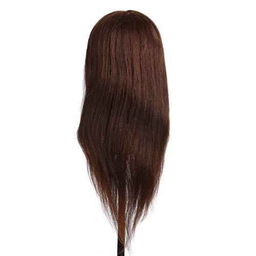 Renaisi Perücke Haartrainings Kopf Haar Praxis Männchen Kopf Friseurattrappe Kopf Mit Haar Klemmhalter Für Salon Haar Styling - Praxis-männchen