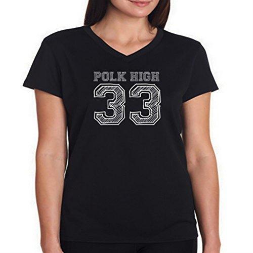 Maglietta scollo a V da donna Polk High 33