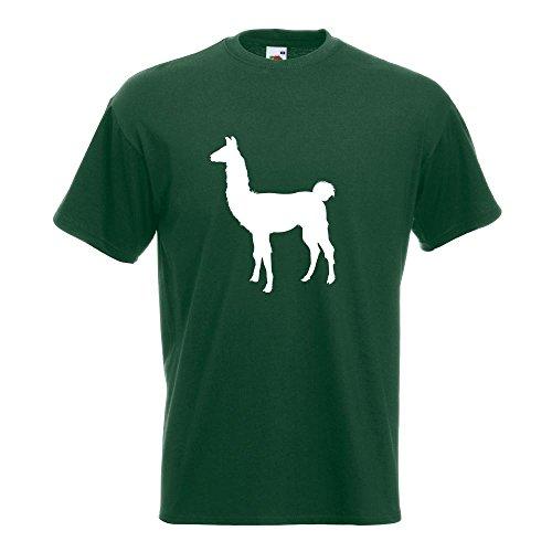KIWISTAR - Lama Alpaca Kamel T-Shirt in 15 verschiedenen Farben - Herren Funshirt bedruckt Design Sprüche Spruch Motive Oberteil Baumwolle Print Größe S M L XL XXL Flaschengruen