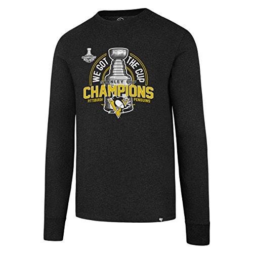 NHL Pittsburgh Penguins 2017Stanley Cup Champions Männern 47Club Long Sleeve Tee, Herren, NHL Pittsburgh Penguins 2017 Stanley Cup Champions Men's '47 Club Long Sleeve Tee, Jet Black, Medium
