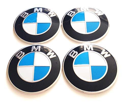 4 Rad mitte kappen aufkleber 60 mm BmwEmbleme gewölbt logo selbstklebendes radkappen felgenkappen