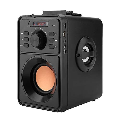 Enceinte Sono Portable, 10W Haut-Parleur Bluetooth 4.2 Portable sans Fil Haut-Parleur 3D Basse Stéréo Support TF USB AUX FM Enceinte Portable avec Télécommande.