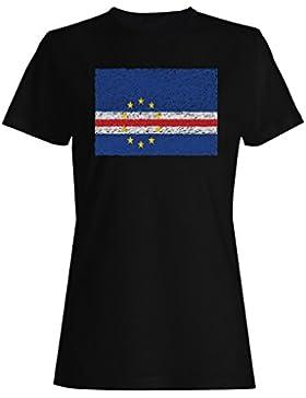 Bandera De Cabo Verde camiseta de las mujeres i214f