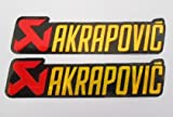 AKRAPOVIC stickers decals aufkleber - Rot oder - Auspuff - Motorrad - Motorbike - Motorsport - Motorcycles - Racing Team - Biker - set of 2 pieces