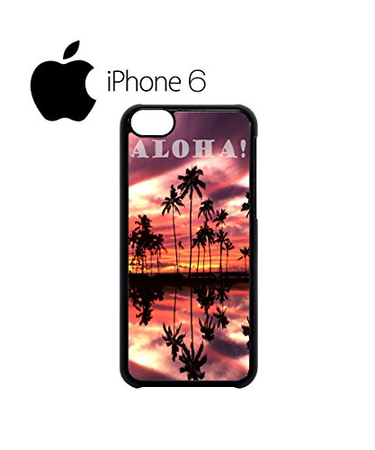 Aloha Sunset Hawaii Funny Swag Mobile Phone Case Back Cover for iPhone 6 Black Blanc