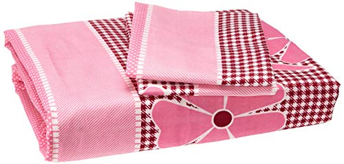 Bombay Dyeing Double Bedsheet with 2 Pillow Covers - Pink