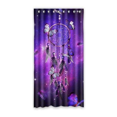 """dalliy personalizado Atrapasueños cortina de ventana poliéster 50""""x96"""" sobre 127cm x 244cm (una sola pieza), poliuretano, A, 50"""" x 96"""""""