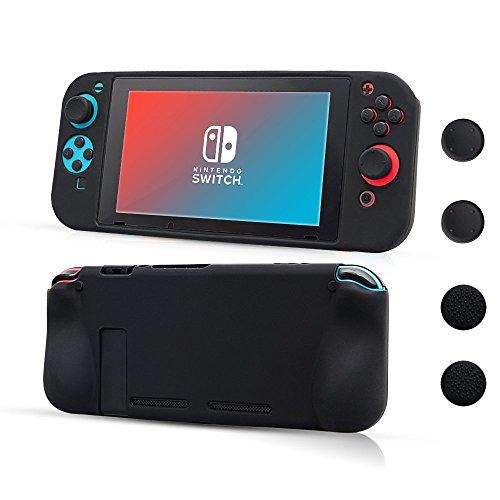 CHINFAI Funda de Silicona para Nintendo Switch, Soft Antideslizante 360 ° Funda de Silicona Protectora para Nintendo Switch [Piel de Caucho Flexible, Ligera y Durable]