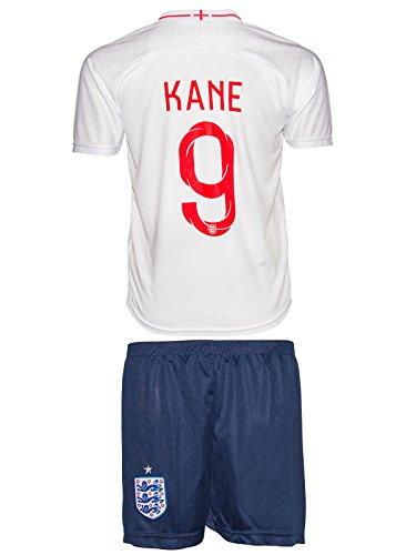 England Kane 2018 Heim/Auswärts Trikot und Shorts Kinder und Jugend Größe (128-5-6 Jahre, Auswärts)