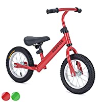 Learning Training Balance Bike Pro Kids Metal First Bicycle Inflatable Tyres RideStar