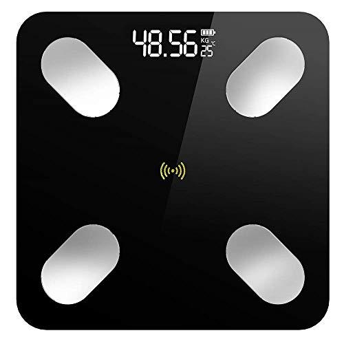 Bilance per grasso corporeo Bluetooth Premium, Bilance pesapersone, Bilancia con schermo a LED, App intelligente per peso corporeo, grasso corporeo. La bilancia tradizionale misura solo pesi semplici, ma la scala di peso corporeo utilizza la tecnol...