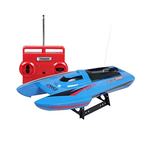 CLCYL Remote Control Boat / child Remote Control Toy Remote Control, Wireless Remote Control Helmet 2.4 GHz Remote Control Double helix High Power Boat Toy, Blue