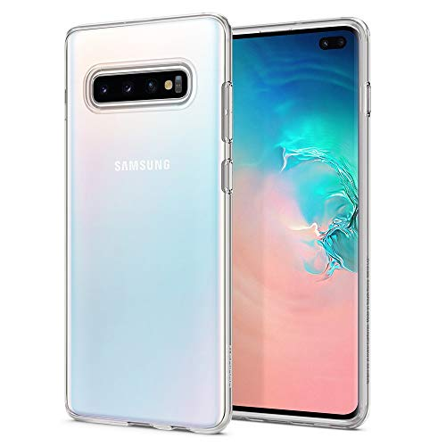 Spigen 606CS25761 Liquid Crystal Kompatibel mit Samsung Galaxy S10 PLUS / S10+ Hülle, Transparent TPU Silikon Schutzhülle Case Crystal Clear