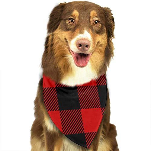 Plaid-Seamless Fashion Pet Bandanas Hund Auto Halstuch für Unisex Pet Boy Girls -