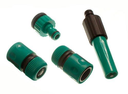 4 Quick Fix jardin Raccords 2 du connecteur du robinet + 2 réducteurs + 2 buse de pulvérisation