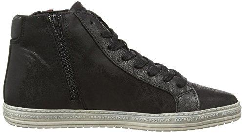 Dockers by Gerli 32LN213, Sneaker alta donna Nero (Schwarz (schwarz/silber 155))