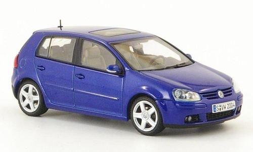 VW Golf V, blau, 5-türig, 2003, Modellauto, Fertigmodell, Auto Art 1:43