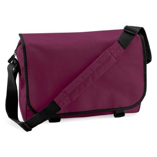 Shirtstown Messenger Bag, Umhängetasche, Schultertasche, Retro, Tasche, Farbe weiss burgundy