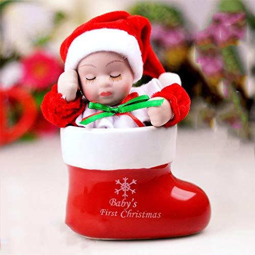 WYDM Weihnachten Spieluhr Weihnachtssocke Spielzeug Elektro-Singen Schmuck Dekoration Geschenke Spielzeug for Kinder Kinder Xmas Party Startseite Weihnachtsdekoration