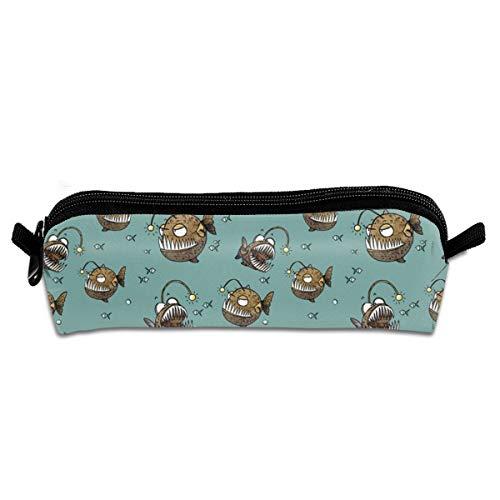 Cranky Fish Pencil Pouch Bag Stationery Pen Case Makeup Box with Zipper Closure 21 X 5.5 X 5 cm Bunny Sexy Velvet