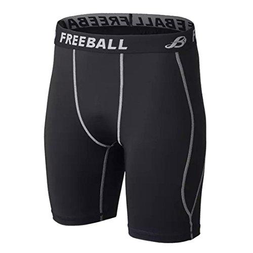 Men's Soccer Cycling Compression Gym Shorts 103 black grey