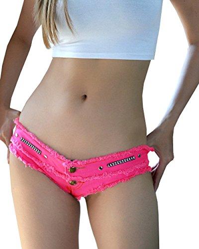 Bestfort Jeanshosen Damen Mädchen Quaste Verband Party Nacht Club Ausgefranste Niedrig-Taille Jeans Shorts Hotpants -