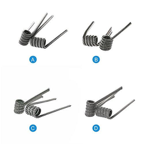Demon Killer Wickel-Draht Wick und Violence Coil Kanthal A1 Vape vorkompilierte Spulen Draht Raging Fire Coil Wires für RDA/RBA / RTA/RDTA und Haushalt Verkabelung Verwendung