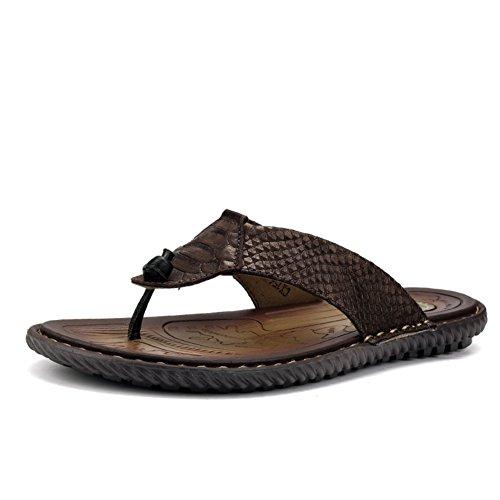 Summer Man Non-slip Flip Flops/Outdoor Leder Strand Sandalen B