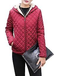 a854f00ec03 ETbotu Female Women Winter Thicken Plush Wool Hooded Coat Cotton Jacket  Short Outwear Coat