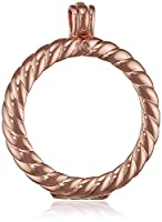 Emozioni Sorrento Rose Gold Plated Sterling Silver 33mm Coin Keeper Pendant