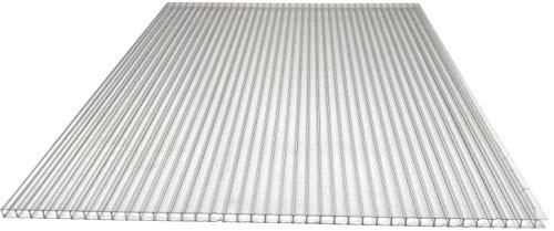 Gewächshaus Platte 1,5 x 0,7 m Polycarbonat Hohlkammerplatte Lexan Thermoclear beidseitig UV 4,5 mm Stärke Stegplatte
