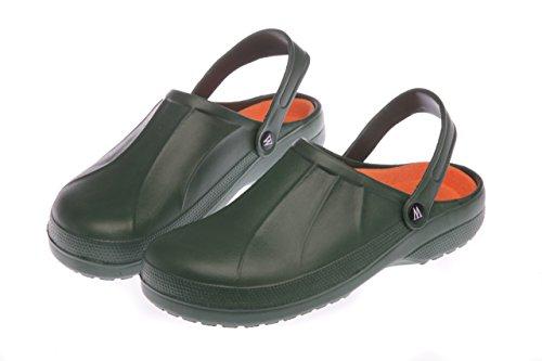 für Männer: Leichtgewichtige Hintertür Garten Pantoffeln Grün/Blau Größen 7 bis 12 Grün
