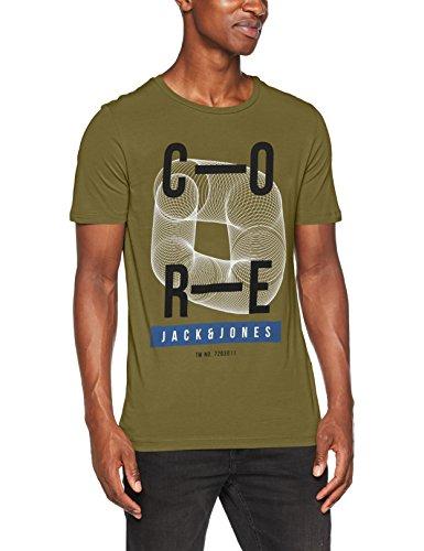JACK & JONES Herren T-Shirt Jcotrust Tee Ss Crew Neck Whs Grün (Capulet Olive Fit:Slim)